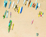 White Sand Beach Surfboards Top View