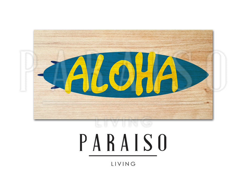 Aloha on Surfboard