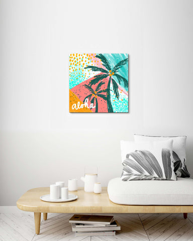 Colorful Aloha Palm Trees