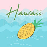 Tropical Fruit Pineapple Hawaiian Theme - Wood Print
