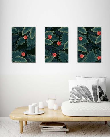 Vintage Tropical Leaves set of 3