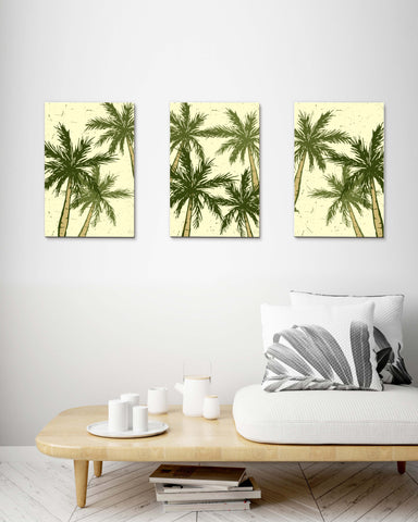 Retro Palm Tree set of 3