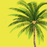 Yellow Vintage Tropical Plants