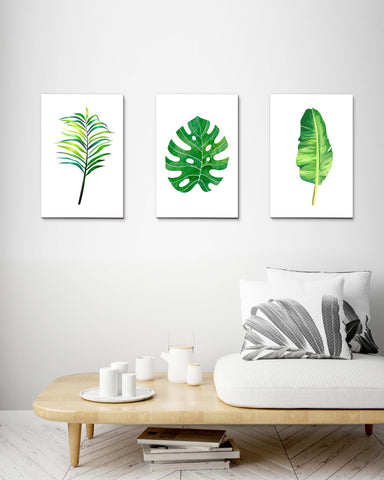Tropical Leaves set of 3