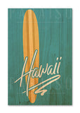 Vintage Surfboard Hawaii Blue