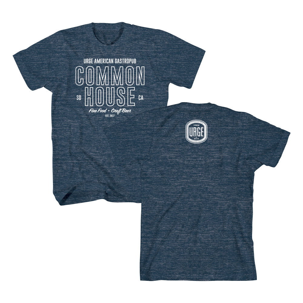 Common House Outline Tee - Navy