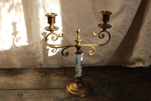 Skultuna candelabrum brass flower Swedish vintage design