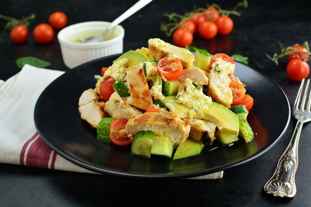 Chicken & Avocado Salad with Lemon Marinade