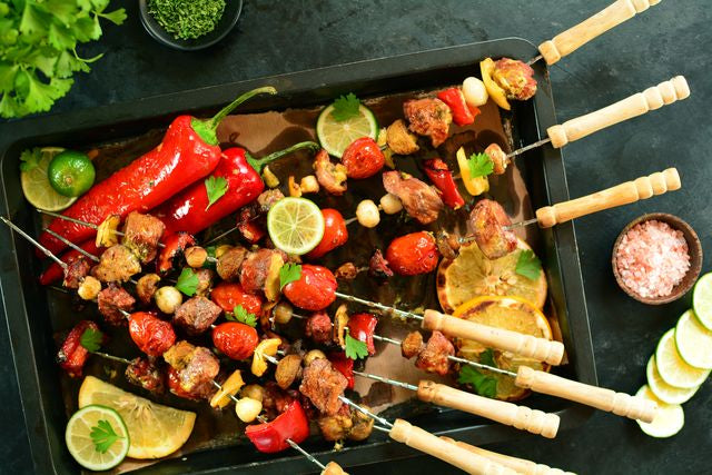 Veal Skewers with Vegetables
