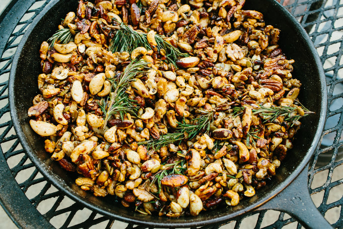 Rosemary, Honey, and Sea Salt Roasted Nuts