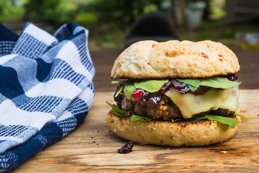 Venison Burgers With Red Currant Chutney