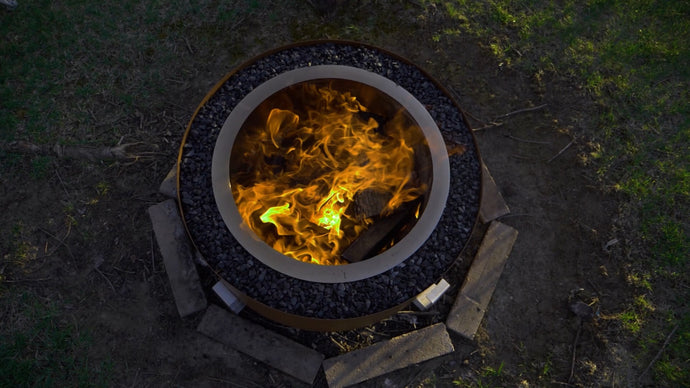 The LUXEVE Fire Pit in Earth Rust
