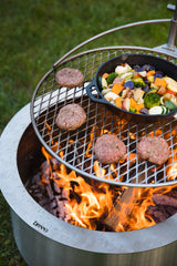 Breeo Stainless Steel Fire Pit with Outpost and Food