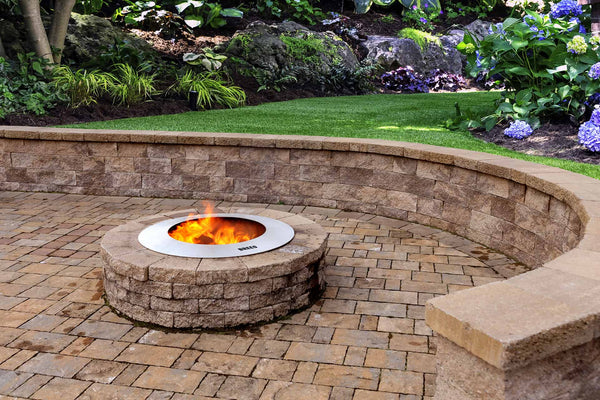 Zentro Stainless Steel Fire Pit Insert with Outpost Grill
