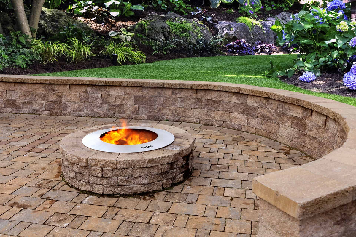 Zentro Stainless Steel Smokeless Fire Pit Insert - Breeo