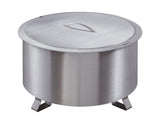 "Double Flame 24"" Lid - Stainless Steel"