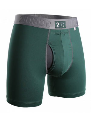 "2UNDR Power Shift 6"" Boxer Brief: Dark Green"