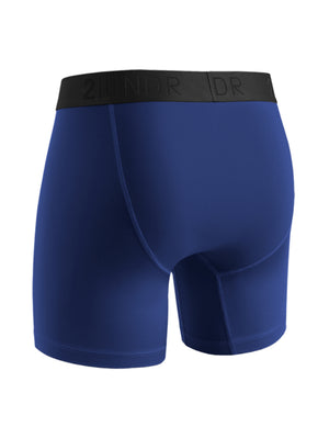 "2UNDR Power Shift 6"" Boxer Brief: Navy"