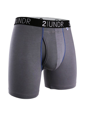 2UNDR Swing Shift Boxer: Grey & Blue