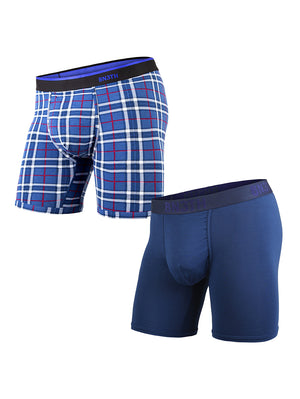 BN3TH Classics Boxer Brief 2 Pack: Navy Fireside Plaid