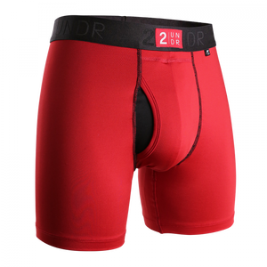 "2UNDR Power Shift 6"" Boxer Brief: Crimson"