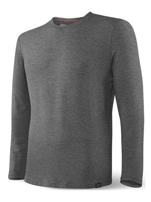 SAXX Sleepwalker Long Sleeve Tee: Dark Charcoal