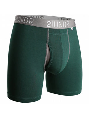 2UNDR Swing Shift Boxer: Dark Green