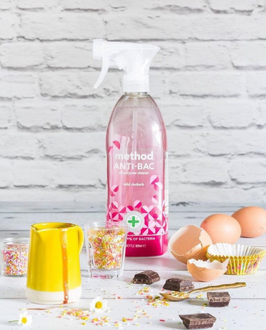 Method Anti-Bac Wild Rhubarb is made from natural products and packaged in recycled plastic