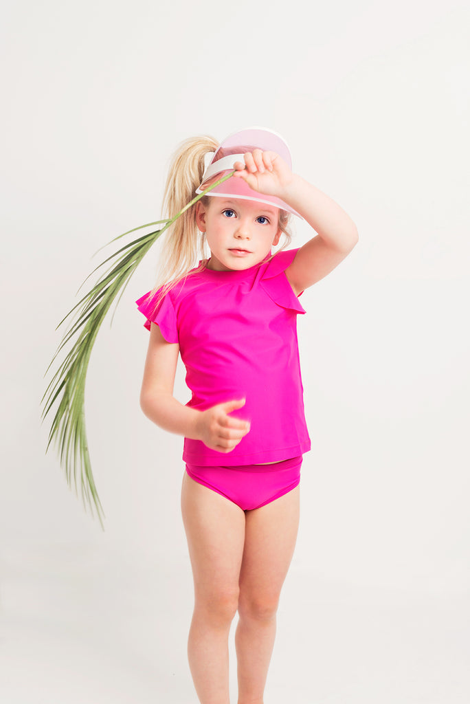 Bella Rash Vest - Hot Pink