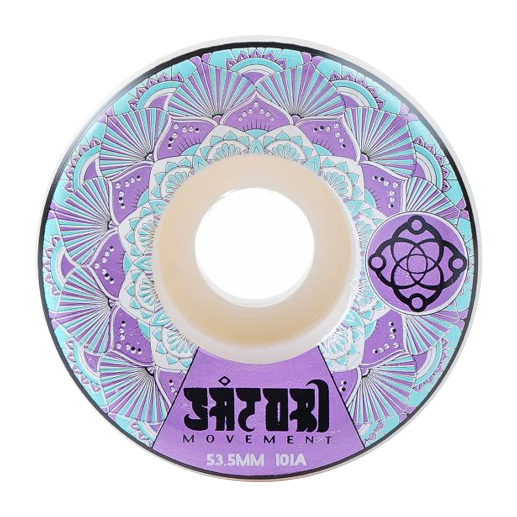 MANDALA 53.5MM FUNNEL CUT WHEELS - PURPLE