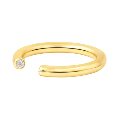GOLD BINARY STAR RING