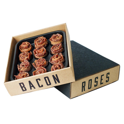 BACON JERKY ROSES + Dark Chocolate Full Dozen Awesome Gifts Co.