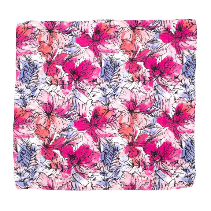 Pink Floral Bamboo Wrap