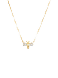 Gold Free Bee Necklace
