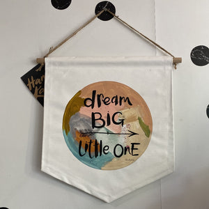 Dream Big Little One Pennant (Neutral Pastels)