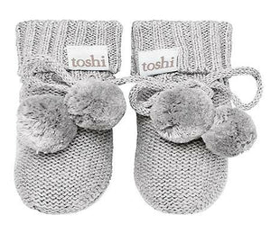 Organic Cotton Baby Mittens - Dove