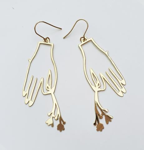 Flower in Hand Earrings