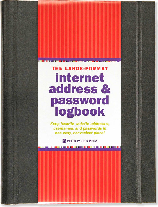 Internet Address & Password Logbook (Large Format)