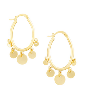 Gold Tinkle Hoop Earrings