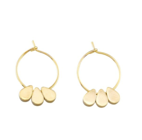 Gold Trio Hoop Earrings
