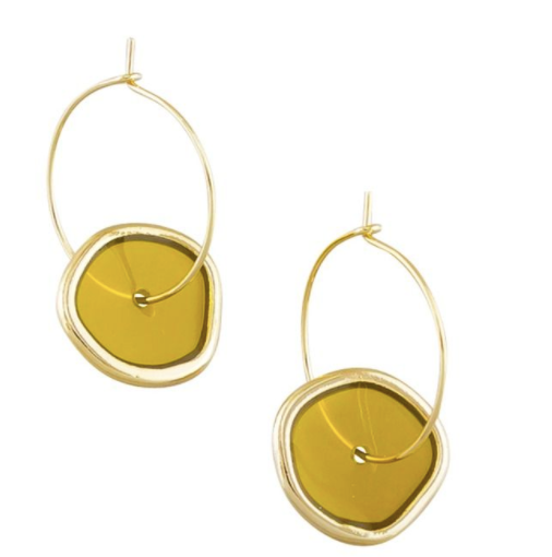 Mustard Spinning Earrings