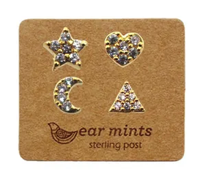 Gold Mismatch Diamante Studs