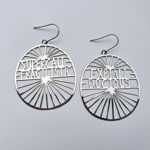Super Cali Earrings in Silver