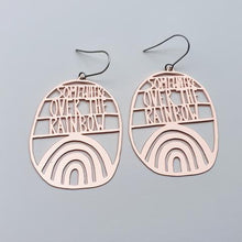 Load image into Gallery viewer, Somewhere Over The Rainbow Rose Gold Earrings