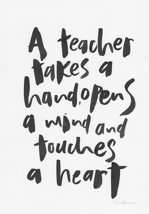 A Teacher Takes A Hand