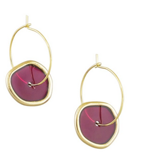 Wine Spinning Earrings
