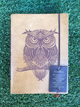 Load image into Gallery viewer, Leather Owl Journal