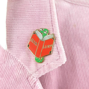 Book Worm Lapel Pin