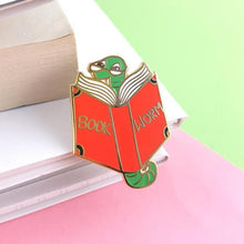 Load image into Gallery viewer, Book Worm Lapel Pin