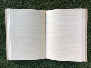 White Leather Silver Medallion Journal